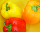 Picture of colorful bell peppers.